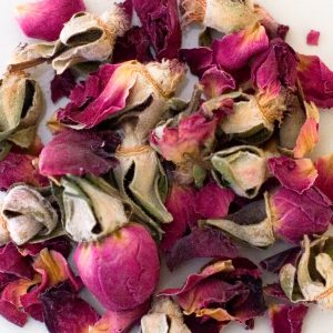 Dried Whole Rose Buds, Petals